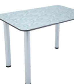 Стол обеденный белый жемчуг
