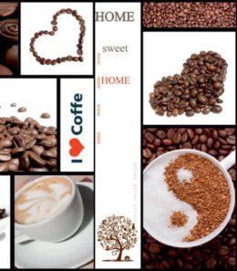 """Стеновые панели """"Кофе с вишней"""" F-06"""