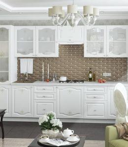 """Кухня """"Шарлиз"""" (белое дерево)"""
