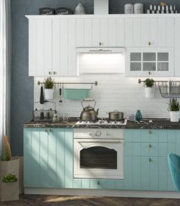 "Кухня ""Прованс"" (белое дерево/голубой)"