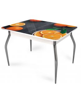 """Стол обеденный раздвижной со стеклом """"Апельсин"""""""