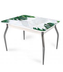 """Стол обеденный раздвижной со стеклом """"Тропики"""""""