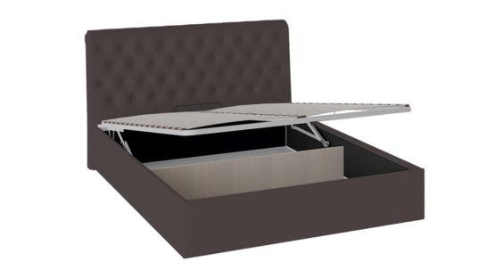Кровать «Скарлет» с мягким изголовьем и подъемным механизмом (Коричневая)