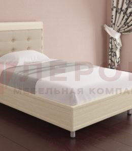 Кровать с ортопед. основанием КР-2051 ( дуб беленый) 1,2 м.