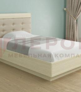 Кровать с ортопед. основанием и подъемным механизмом КР-1052 ( дуб беленый) 1,4 м.