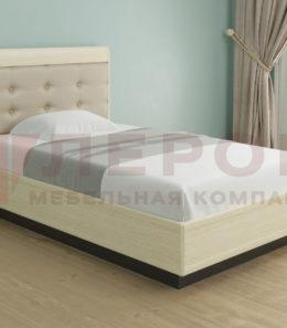 Кровать с ортопед. основанием и подъемным механизмом КР-1052 ( дуб беленый/комби.) 1,4 м.