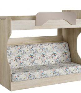 """Кровать двухъярусная с диваном """"Акварель"""" НМ 037.43 М1 (Капучино)"""