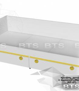"""Кровать с ящиками """"Мамба"""" КР-01"""