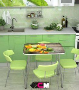 Стол обеденный с фотопечатью (фрукты)