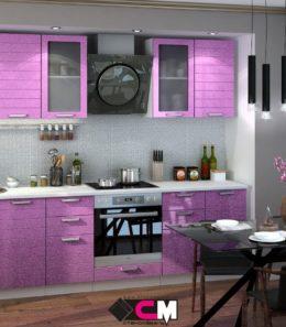 """Кухня  """"Линда"""" (фиолетовый металлик)"""