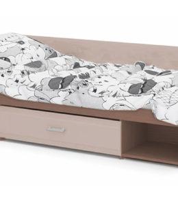 """Кровать """"Симба"""" (капучино глянец)"""