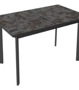 Стол раздвижной «Эрдинг» Тип 1 (Черный муар/Булат)