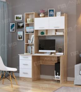 Компьютерный стол ПКС-5 (белый глянец)