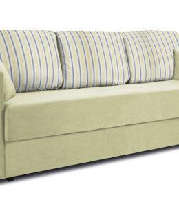 Диван «Поло» (Classic 09 оливковый подушки Strip 05)