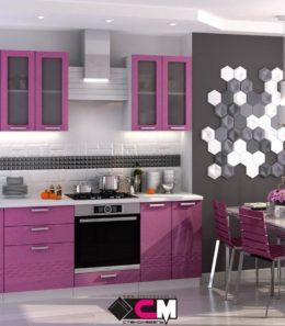 """Кухня  """"Глория"""" (фиолетовый металлик)"""
