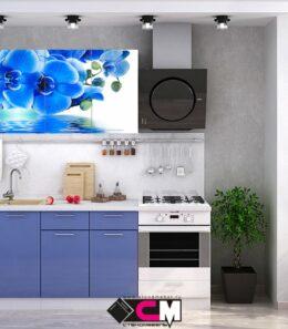 """Кухня  """"Голубая орхидея"""" 1.6 м."""